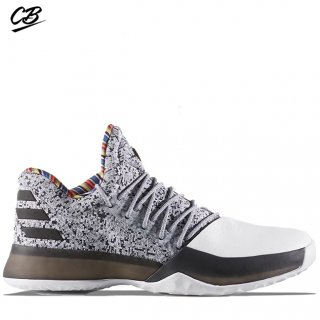 "Adidas Harden Vol 1 ""Black History Month"" Blanc Noir (by3473)"
