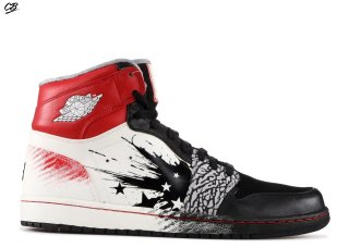 "Air Jordan 1 High Dw ""Dave White (Wings Of The Future)"" Noir Rouge Blanc (464803-001)"