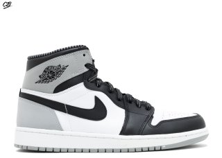 "Air Jordan 1 Retro High Og ""Barons"" Blanc Noir Gris (555088-104)"