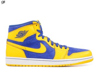 "Air Jordan 1 Retro High Og ""Laney"" Bleu Jaune (555088-707)"