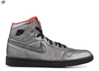 "Air Jordan 1 Retro High Premier ""Pewter"" Argent Noir (332134-001)"
