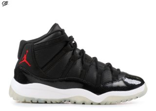 "Air Jordan 11 Retro Bp ""72 10"" Noir Rouge (378039-002)"
