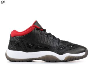 "Air Jordan 11 Retro Low (Gs) ""2011 Release"" Noir Rouge (306006-001)"