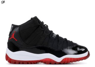 "Air Jordan 11 Retro (Ps) ""2012 Release"" Noir Rouge (378039-010)"
