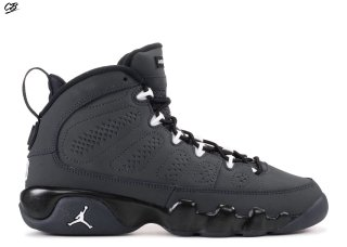 "Air Jordan 9 Retro Bg (Gs) ""Anthracite"" Blanc Noir (302359-013)"