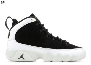 "Air Jordan 9 Retro Bg (Gs) ""City Of Flight"" Noir Blanc (302359-021)"