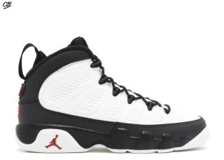 "Air Jordan 9 Retro Bg (Gs) ""Space Jam"" Blanc Noir (302359-112)"