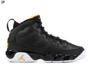 Air Jordan 9 Retro (Gs) Noir Blanc Jaune (302359-004)