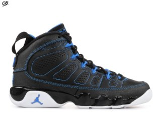 "Air Jordan 9 Retro (Gs) ""Photo Bleue"" Noir Blanc Bleu (302359-007)"