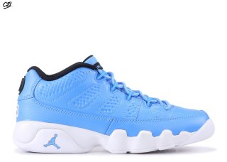 Air Jordan 9 Retro Low Bg (Gs) Bleu Blanc (833447-401)