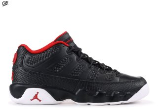 "Air Jordan 9 Retro Low Bg (Gs) ""Bred"" Noir Rouge (833447-001)"