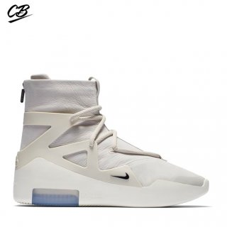 "Nike Air Fear Of God 1 ""Light Bone"" Blanc (ar4237-002)"