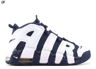 "Nike Air More Uptempo (Gs) ""Olympic"" Blanc Marine (415082-104)"