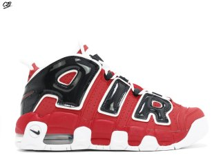 Nike Air More Uptempo (Gs) Rouge Blanc Noir (415082-600)