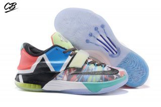 "Nike KD VII 7 ""What The"" Multicolore Noir (812329-944)"