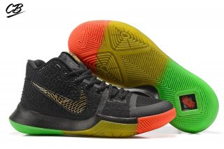 "Nike Kyrie Irving III 3 ""Rise And Shine"" Noir Vert Rouge Or"