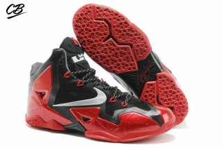 "Nike Lebron XI 11 ""Away"" Rouge Noir"