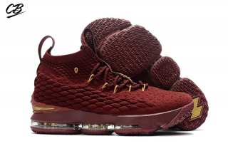 Nike Lebron XV 15 Enfant Rouge Or