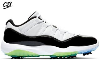 Air Jordan 11 Retro Low Golf Concord Bianco Noir Vert (AQ0963-101)