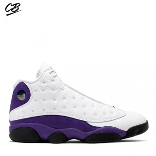 "Air Jordan 13 ""Lakers"" Blanc Pourpre (414571-105)"