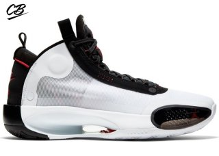 Air Jordan 34 Blanc Noir Rouge (AR3240-100)