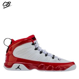 Air Jordan 9 Retro (GS) Blanc Rouge (302359-160)