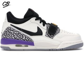 "Air Jordan Legacy 312 Low (GS) ""Lakers"" Blanc Pourpre (CD9054-102)"