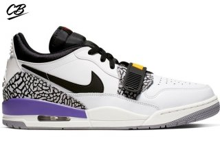 "Air Jordan Legacy 312 Low ""Lakers"" Noir Blanc Pourpre (CD7069-102)"