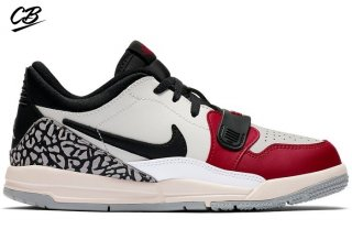 "Air Jordan Legacy 312 Low (PS) ""Chicago"" Blanc Noir (CD9055-106)"