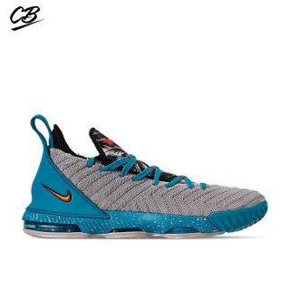 "Nike Lebron XVI 16 (GS) ""Tropical Beach"" Gris Bleu (AQ2465-076)"