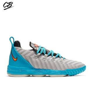 "Nike Lebron XVI 16 (PS) ""Tropical Beach"" Bleu Gris (AQ2467-076)"