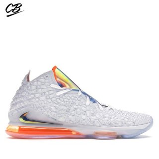 "Nike Lebron XVII 17 ""Future Air"" Blanc Gris Orange (CT3843-100)"