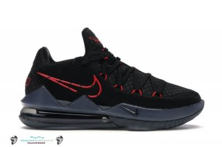 "Nike Lebron 17 ""Low Noir"" Rouge Sombre Gris (CD5007-001)"