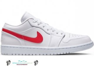 "Air Jordan 1 Low Blanc ""Université Rouge"" (W) Rouge Blanc (AO9944-161)"