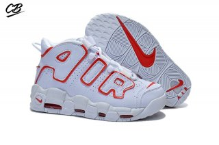 Nike Air More Uptempo Blanc Rouge