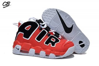 Nike Air More Uptempo Rouge Blanc Noir